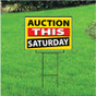 Auction This Saturday Sign - Festive