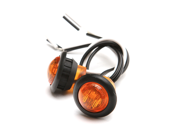 "3/4"" Amber LED Round Marker Light (Pair) GenRight"