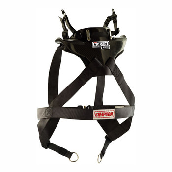 Simpson Hybrid Pro Rage X-Small Neck Neck Restraint System With Sliding Helmet Tether