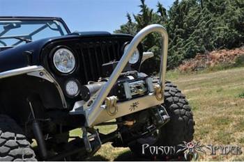 Poison Spyder - Front Bumper + Shackle Tabs & Trail Stinger