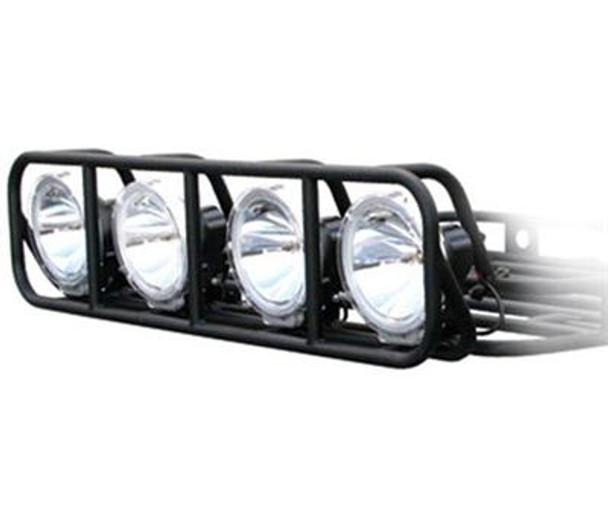 Defender light bar cage mount reno off road black powder coat fits any 4 wide roof rack made from 16 defender light bar aloadofball Choice Image