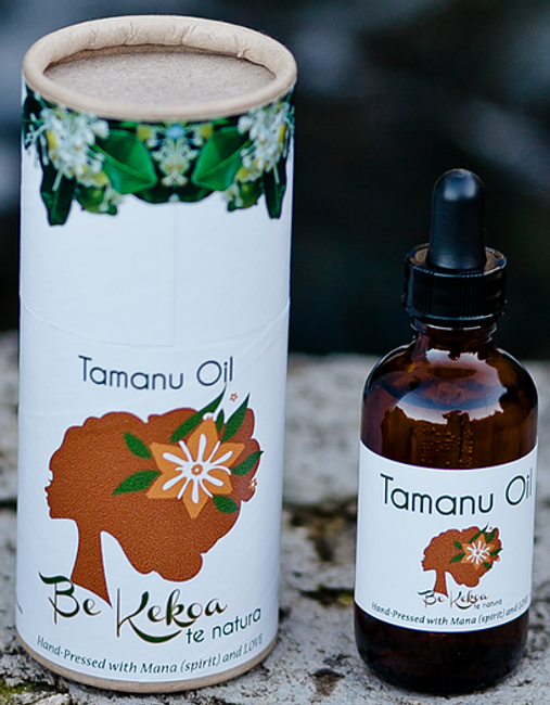Be Kekoa Hand-Pressed Tamanu Oil from French Polynesia- 2 oz