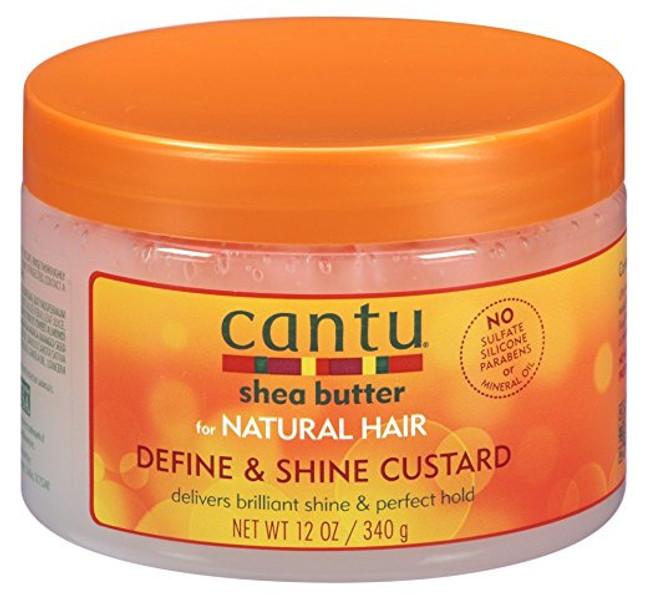 Cantu Natural Hair Define And Shine Custard - 12 oz