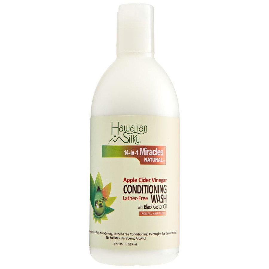 Hawaiian Silky Apple Cider Vinegar Lather-Free Conditioning Wash (Co-Wash) 12 oz