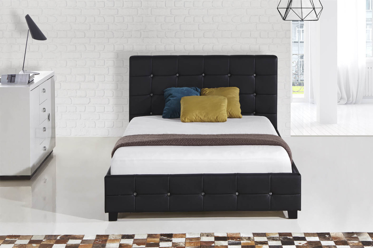 White black leather double size bed in Sydney Melbourne Brisbane ...