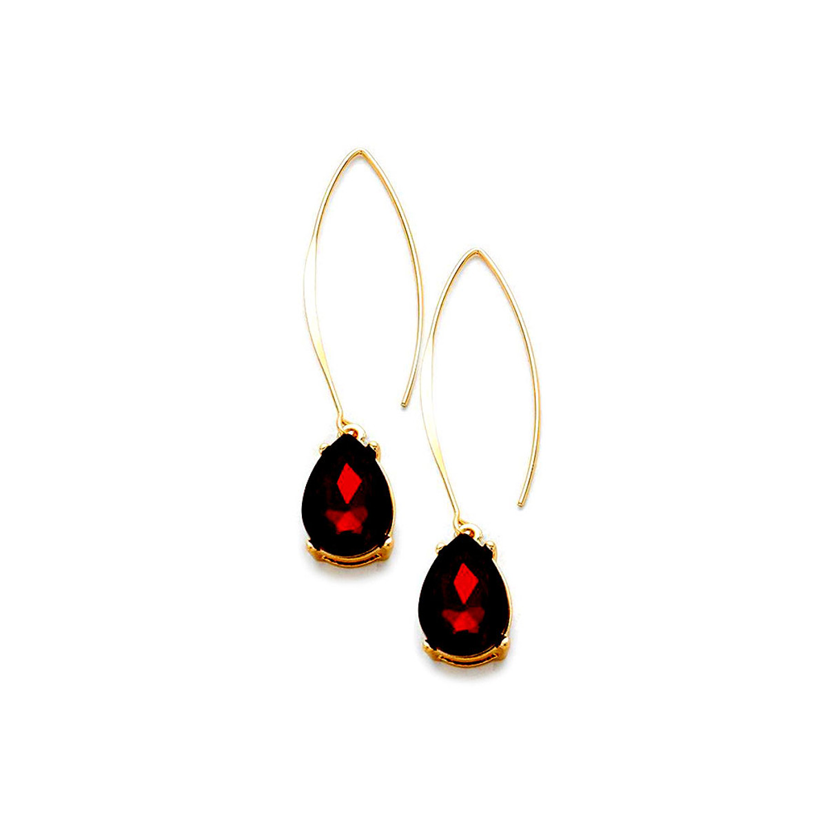 gold red rose earrings in glazed ring jewellery style