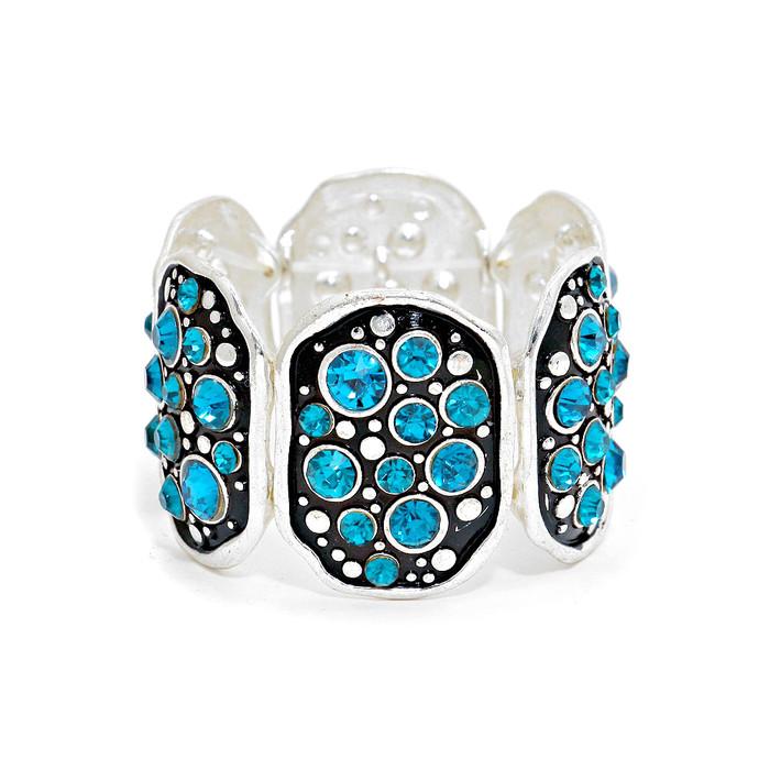 aqua crystal bubble bracelet