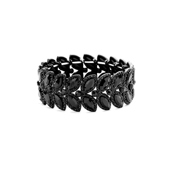 deluxe black-on-black marquis crystal bracelet