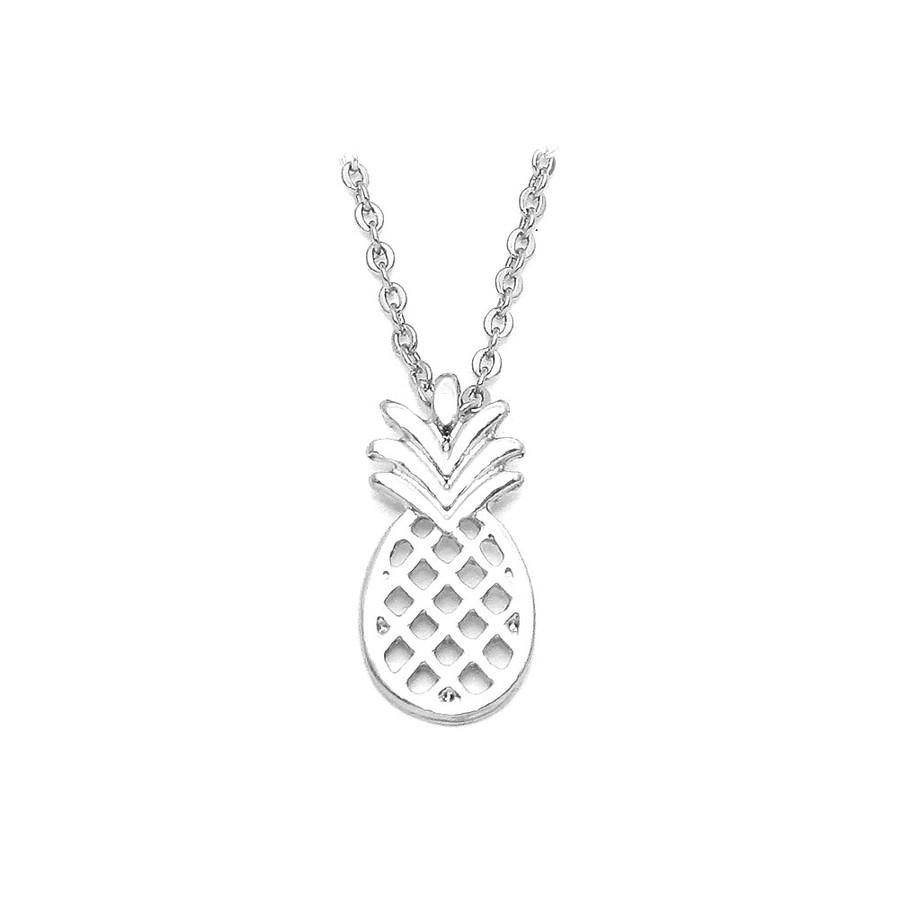 mini silver pineapple necklace