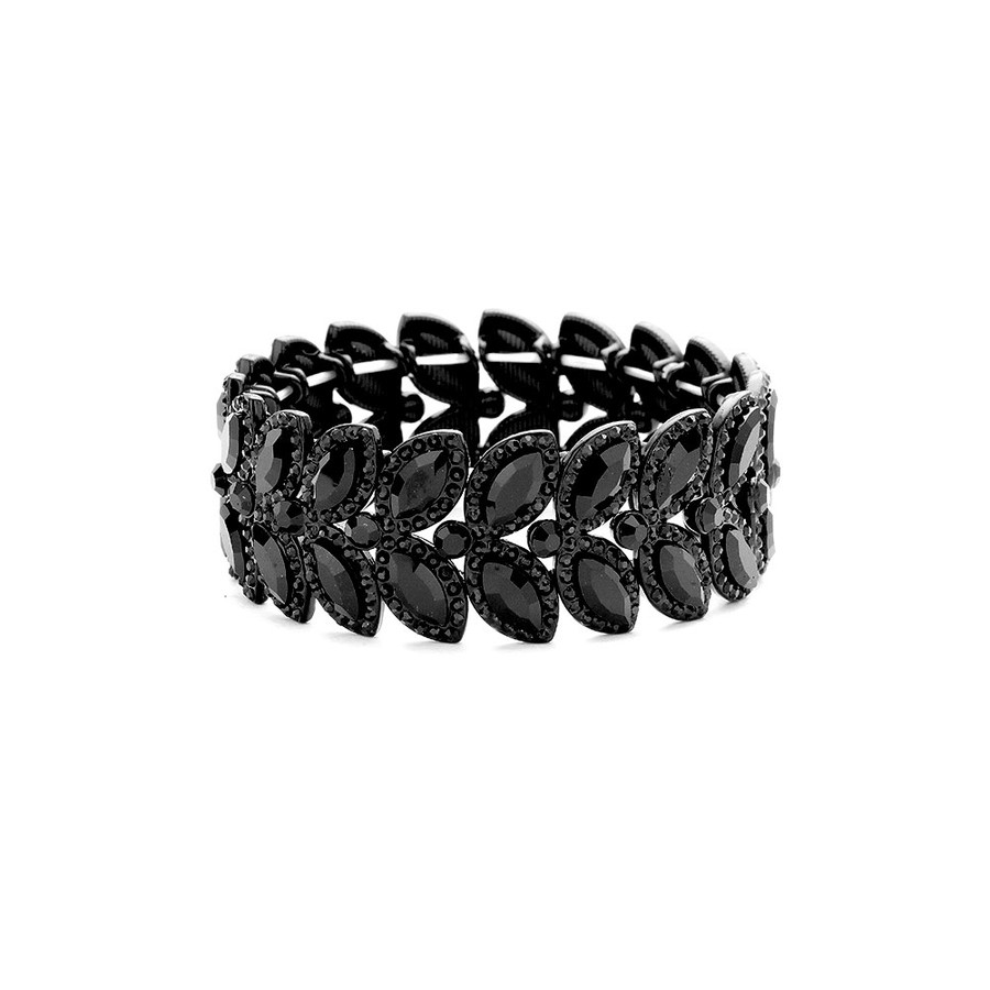 deluxe black-on-black marquis crystal bracelet