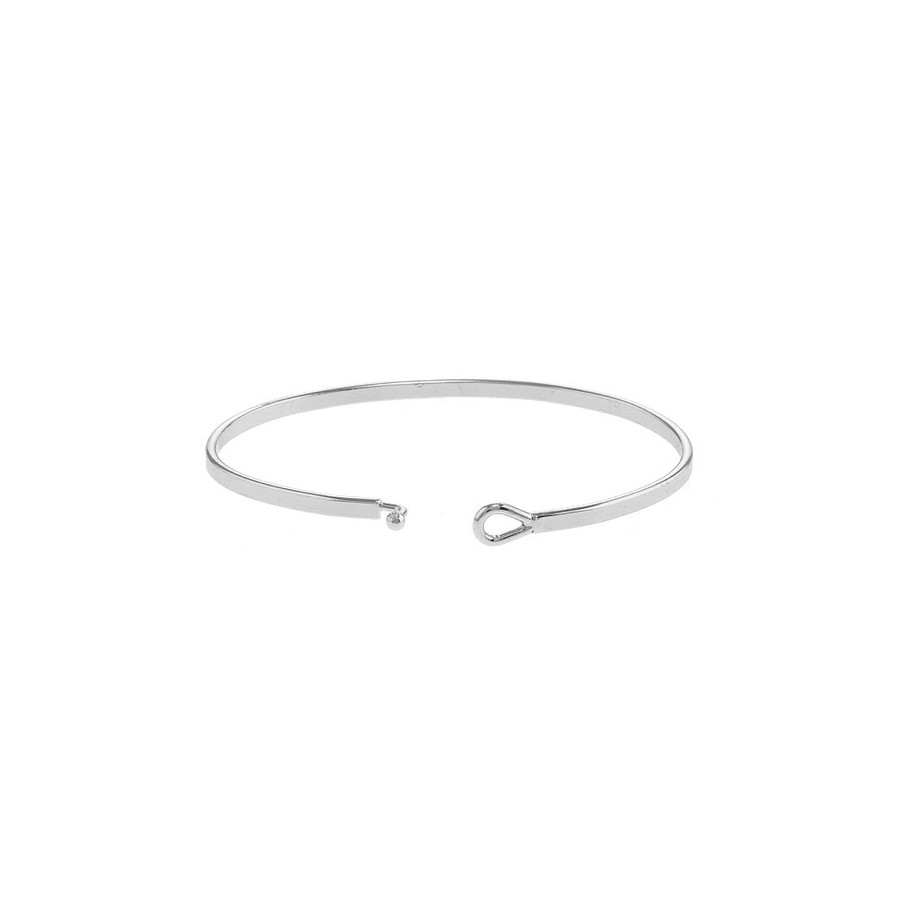 "silver ""BE BRAVE"" arrow bangle"