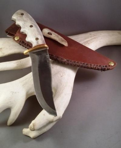 Custom Made Reindeer Antler Knife (The Wolverine)