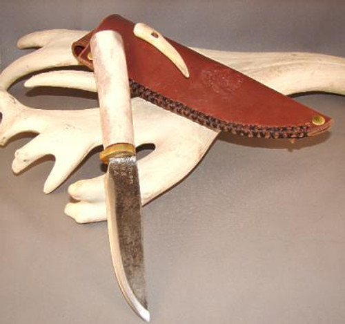 Custom Made Reindeer Antler Knife (The Cougar)