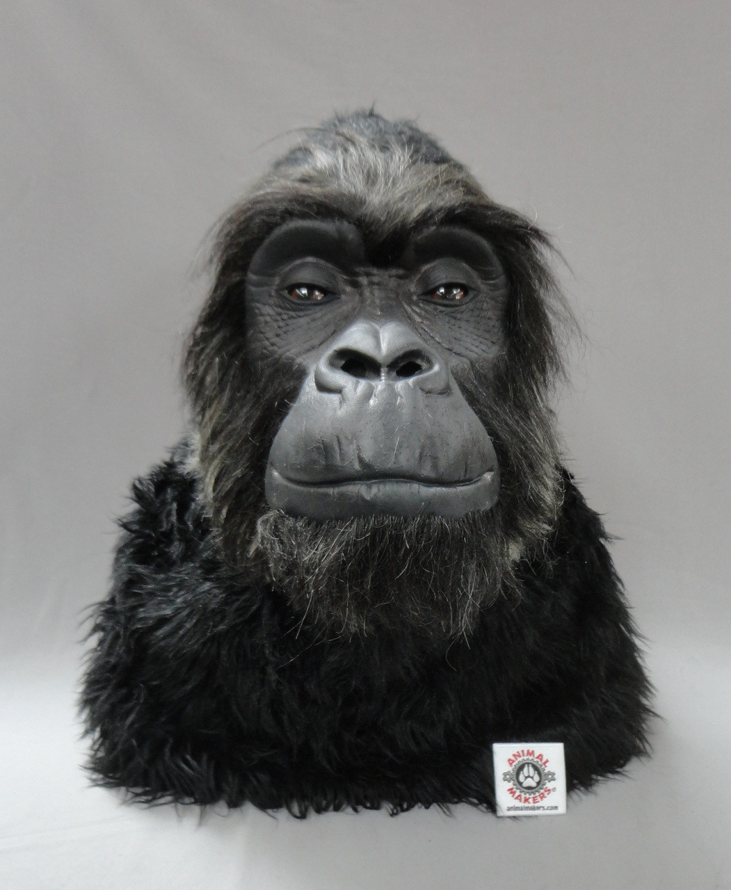 Non animatronic gorilla head with hand punched hair u0026 whiskers all around the face for & Animatronic Professional Gorilla Costume