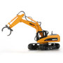 HUI NA TOYS NO.1570 Excavator Timber Grab Crawler Truck 2.4G 16CH RC Engineering Vehicle