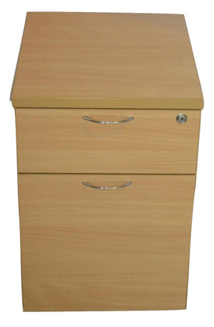 Maple Two Drawer Pedestal (244-0DB-7D2)