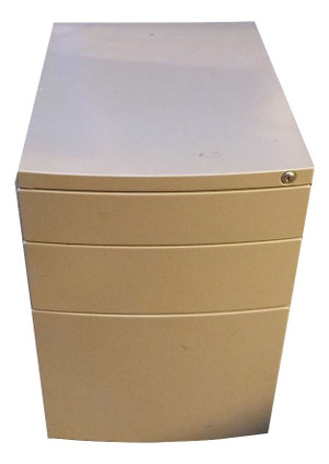 Metal 3 Drawer Pedestal (676-462-BFC)