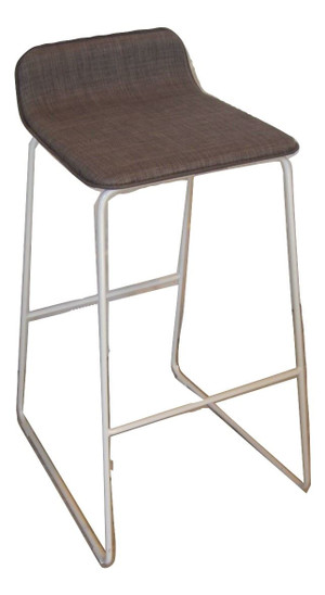 Grey Metal High Chair (7E3-C09-86D)