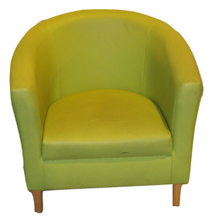 Green Faux Leather Tub Chair (FDD-AB1-F84)
