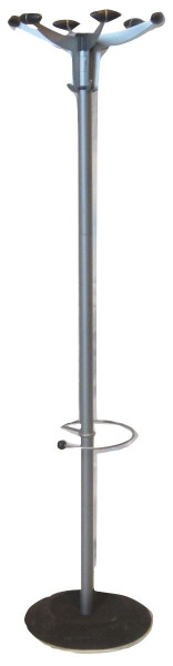 Grey and Black Metal Coat Stand (3D4-91E-3EB)