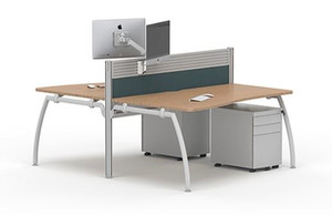 Senator Bench System of 4 Maple Desks (035-1E6-17F)