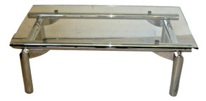 Chrome and Glass Coffee Table (992-393-B17)