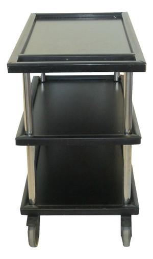 Large Black Serving Cart (C8F-6E2-DE1)
