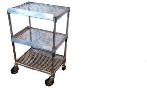 Three Tier Wire Food Trolley (796-949-51C)