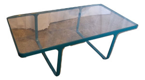 Green Glass Coffee Table (7B6-536-3B4)