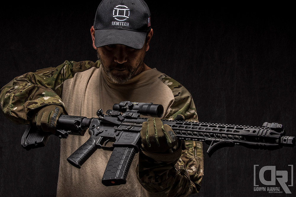 SanTan Tactical rifle W/ Hexmag magazine and Advanced Tactical Grip by SENTRY