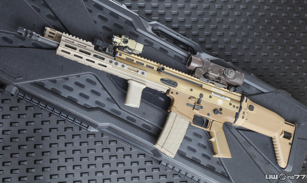 The Series 2 Hexmag magazine by SENTRY is SCAR compatible - no modifications needed.