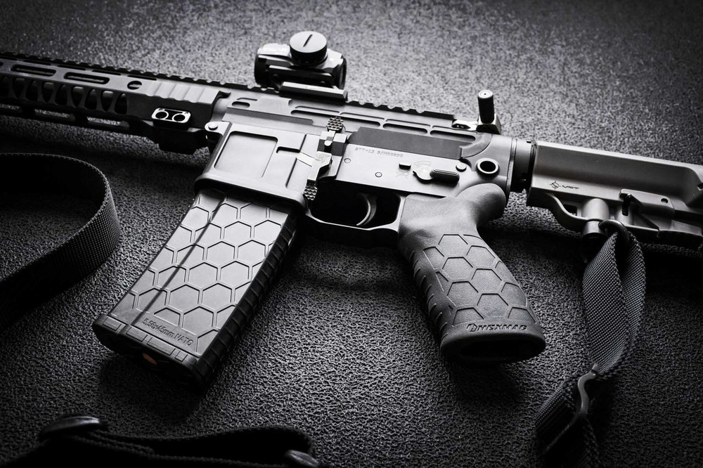 Hexmag Tactical Grip and Series 2 magazine by SENTRY in this SanTan Tactical build.