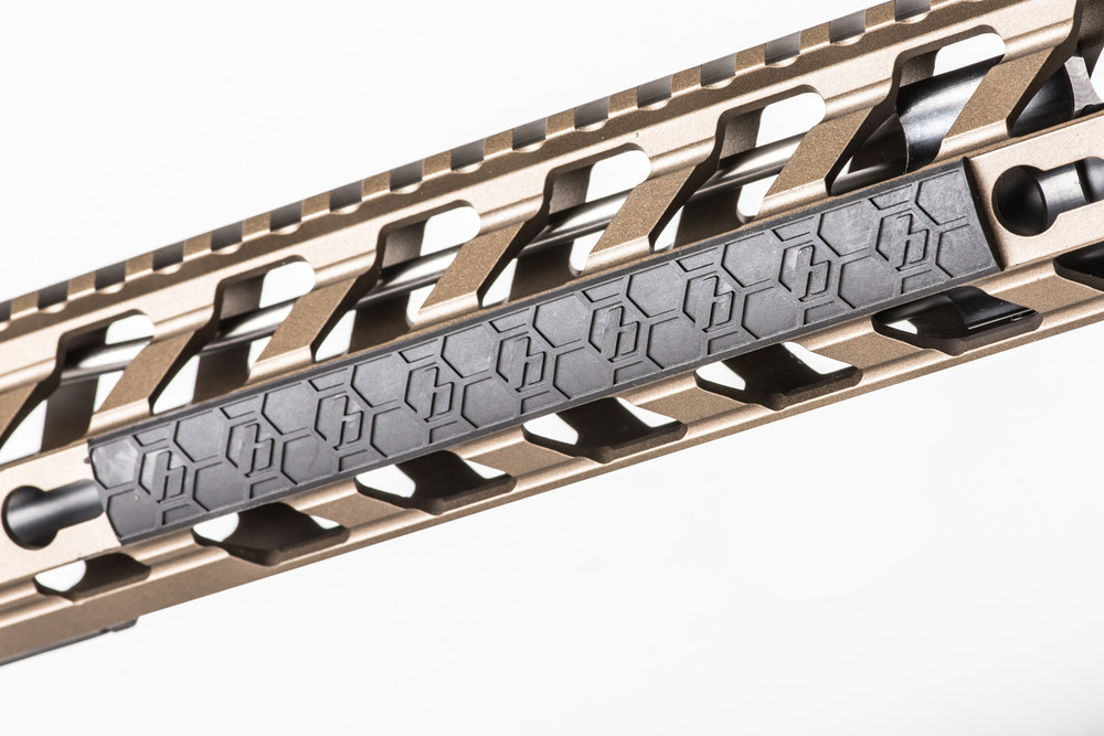SENTRY's Keymod rail covers feature our patented Hexture™ design pattern matching the SENTRY Hexmag line of magazines and accessories.