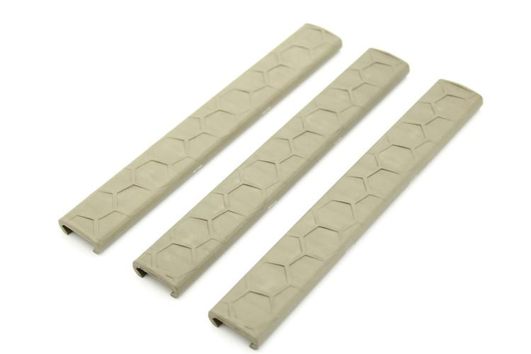 SENTRY Slim Line Picatinny LowPro Rail Covers - 3 Pack FDE