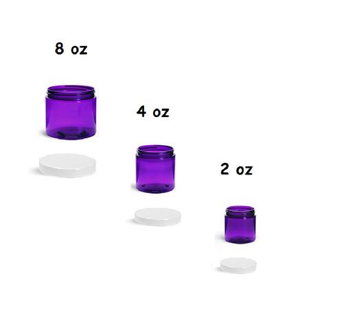 4 oz Purple Jars with Cap