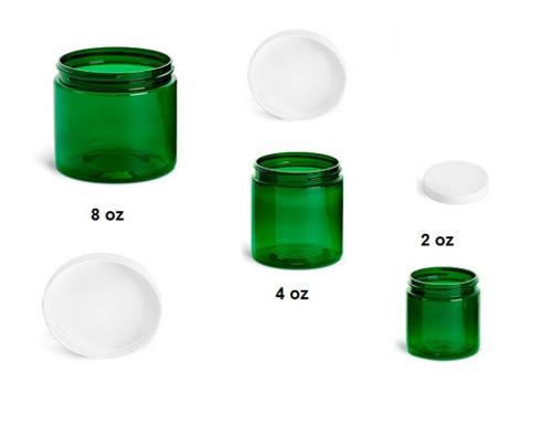 8 oz Green Jars with Cap