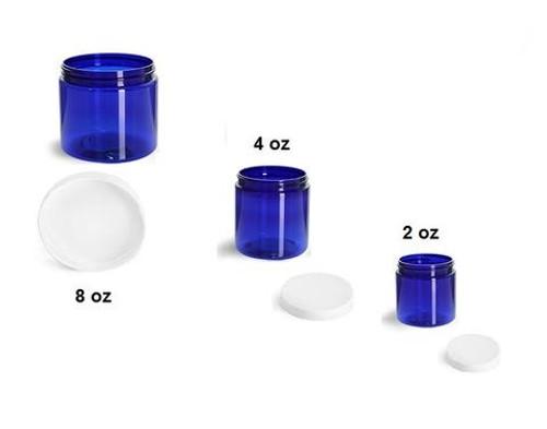 8 oz Blue Jars with Cap