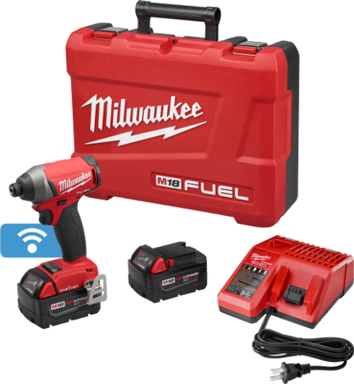 "Milwaukee M18 FUEL™  1/4"" HEX IMPACT DRIVER WITH ONE-KEY™ KIT"