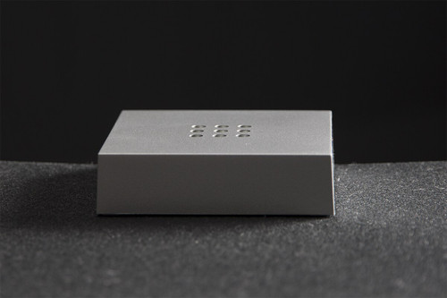 Square Light Base with 9 LED Battery Powered  (Silver)