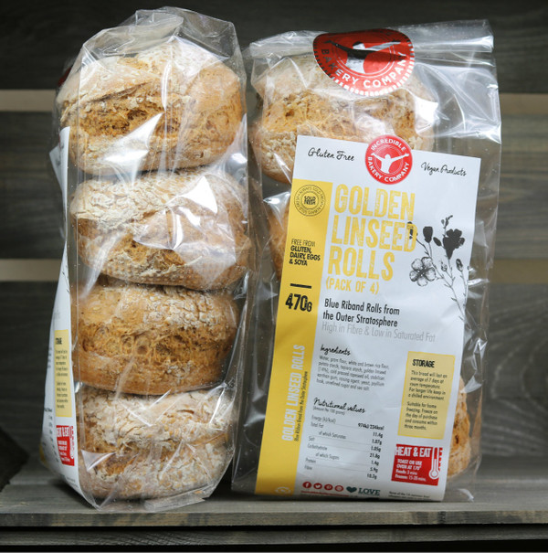 Incredible Golden Linseed Rolls (4 in a pack)