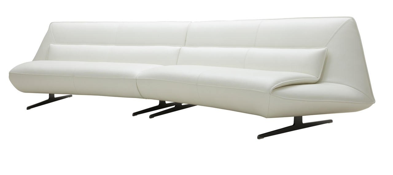 Divani Casa Beckley Modern White Leather Sofa ...