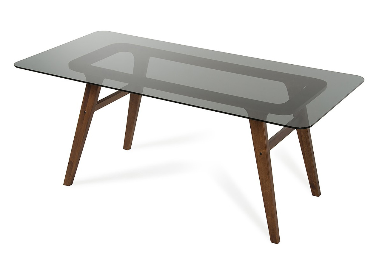 Modrest Zeppelin Modern Smoked Glass Dining Table ...