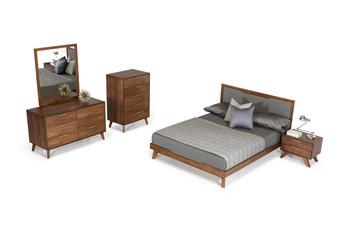 Nova Domus Soria Modern Grey & Walnut Bedroom Set