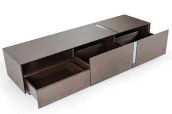 Modrest Pisa - Modern Brown Oak TV Stand