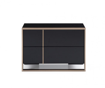 Nova Domus Cartier Modern Black & Rosegold Right Nightstand