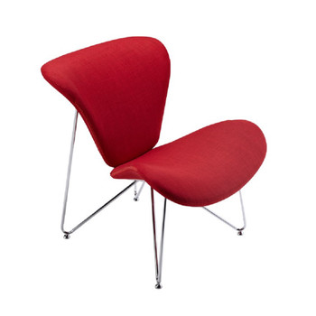 Modrest Decatur Contemporary Red Fabric Accent Chair