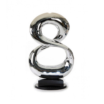 Modrest SZ0029 - Modern Silver Infinity Sculpture