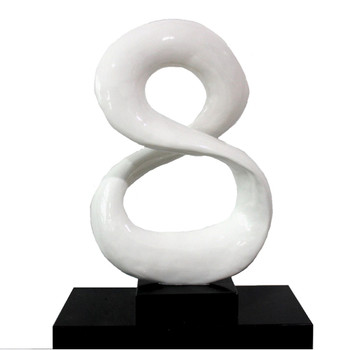 Modrest SZ0029 - Modern White Infinity Sculpture