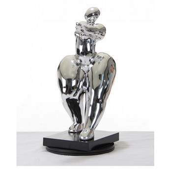 Modrest SZ0048 - Modern Silver Voluptuous B Sculpture