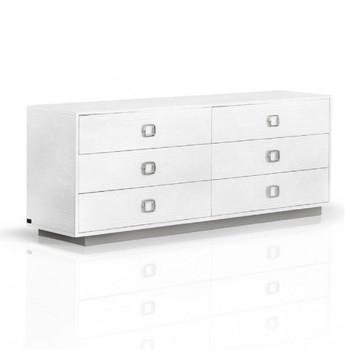 A&X Victoria - Modern White Crocodile Dresser